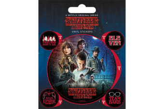 Stranger Things Official Stickers Set (Pack of 5) (Multicolour)