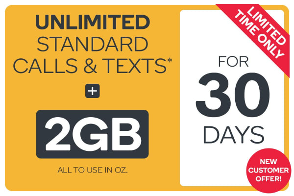 Kogan Mobile Prepaid Voucher Code: SMALL (30 Days | 2GB) - NEW CUSTOMERS ONLY