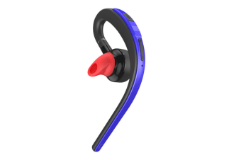 WJS Wireless Universal Stereo Headset Hanging Ear Car Phone Mini Bluetooth Headset 4.1 Wireless Earbuds-Blue
