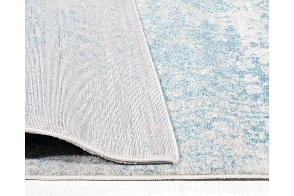 Glacier White Blue Transitional Rug 400x80cm