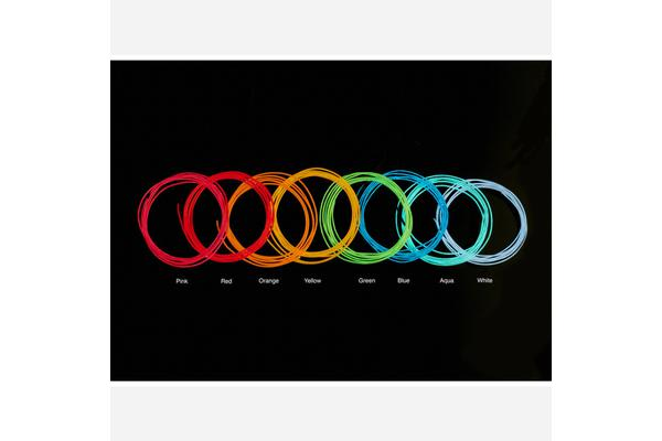 High Brightness Blue Electroluminescent (EL) Wire - 2.5 meters [High brightness, long life]