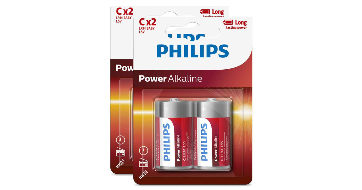 Dick Smith 4pk Philips C Alkaline Single Use Battery 1 5v Lr14