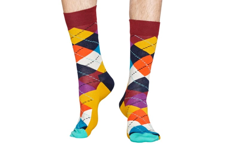 Happy Socks Argyle Sock (Orange, Size 36-40)