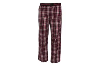Forever Dreaming Womens/Ladies Woven Pyjama Trousers/Bottoms (Pink Check) (XL)