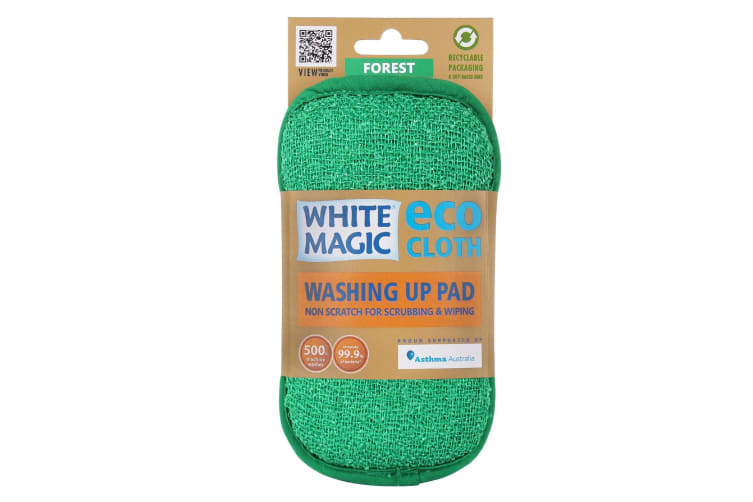 White Magic Microfibre Washing Up Pad - Forest