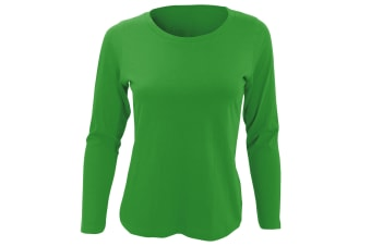 SOLS Womens/Ladies Majestic Long Sleeve T-Shirt (Kelly Green)