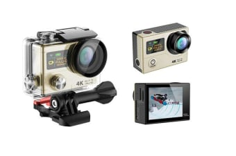 "4K Ultra Hd Wifi Sports Action Camera 2"" Lcd Video Remote H3R Gold"