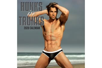 Hunks in Trunks - 2020 Premium Square Wall Calendar 16 Month New Year Decor Gift