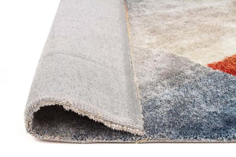 Haley Textured Rust Grey Multi Coloured Rug 225x155cm