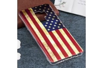 For Samsung Galaxy S9 PLUS Back Case US Flag Pattern Protective Cover