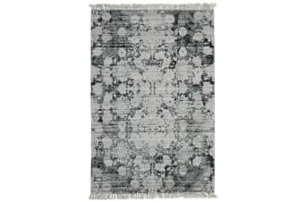 Stanton Viscose Flaweave Rug Silver Green 225X155cm