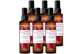 6PK Loreal Paris 150ml Hair Care Botanicals Geranium Oil Reviving Shine Vinegar