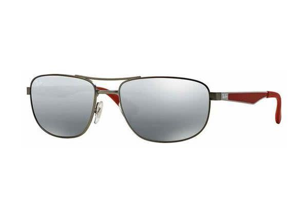 Ray-Ban RB3528 - Matte Ruthenium (Grey Mirror lens) / 58--17--145 Mens Sunglasses