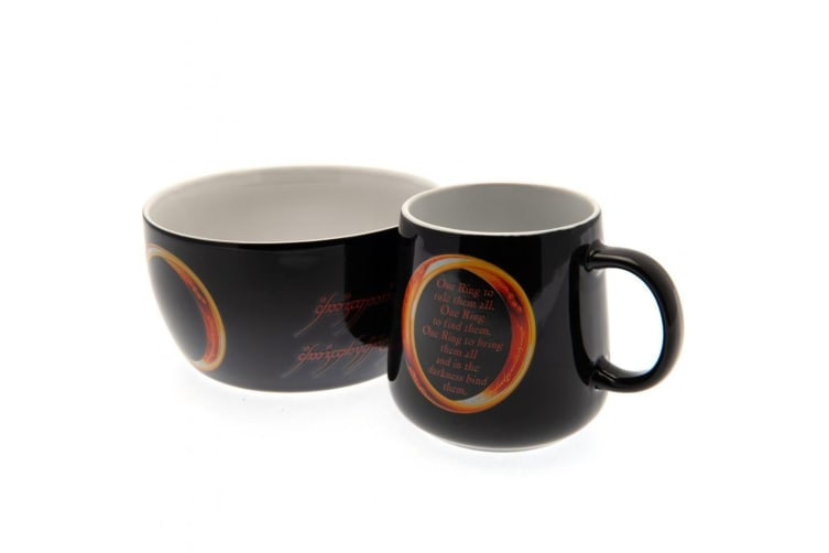 The Lord Of The Rings Official Breakfast Set (Black) (One Size)