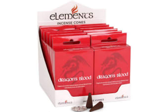 Elements Dragons Blood Incense Cones (Box Of 12 Packs) (Red)
