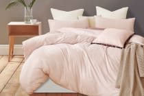 Gioia Casa Jersey Cotton Quilt Cover (Pink Marble)