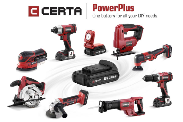Certa PowerPlus 18V Sander (Skin Only)