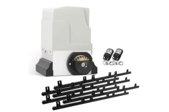 550W Automatic Sliding Gate Opener Kit with 6 Rails (White)