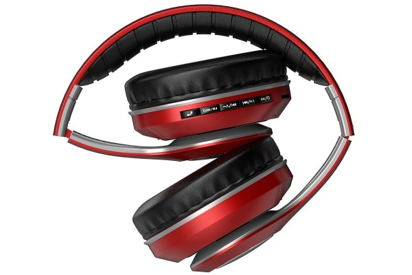 Kogan Pro Urban II Bluetooth Headphones (Metallic Red)