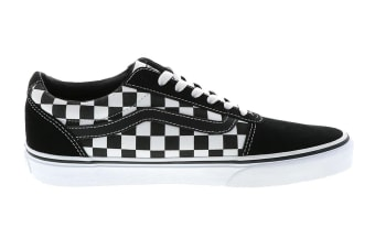 Vans Men's Ward Checkered Shoe (Black/True White, Size 10.5 US)