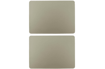 2pc Zic Zac Togo 33x45cm Rectangular Double Sided PVC Placemat Tablemats Taupe