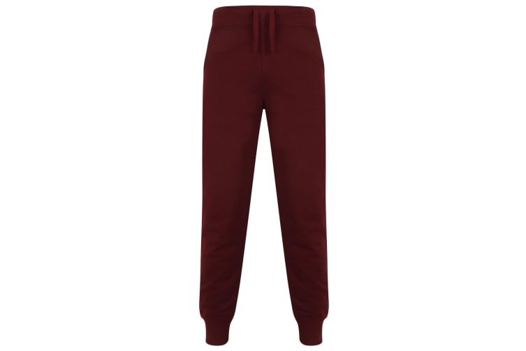 Skinnifit Mens Slim Cuffed Jogging Bottoms/Trousers (Burgundy) (2XL)