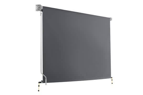 2.7m x 2.5m Retractable Roll Down Awning (Grey)
