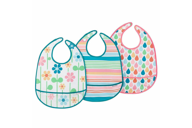 3pc JJ Cole Bib Set - Summer Garden