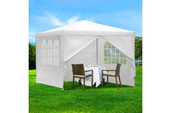 3x3m Party Wedding Marquee Canopy Outdoor Gazebos Camping White