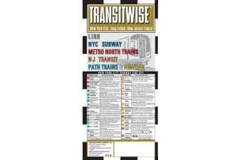 Streetwise Map New York Transitwise - Laminated City Center Street Map of New York Transitwise - City Plans