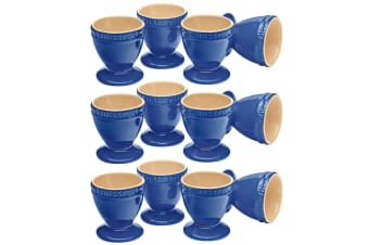 Chasseur La Cuisson 12p Boiled Egg Cup Holder Stand Set Blue Oven Safe Tableware