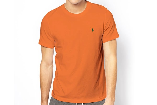 Polo Ralph Lauren Men's Crew Neck Tee - Signal Orange (Size M)