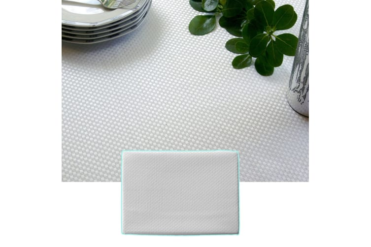 Prestige Jacquard White Table Cloth 180 x 270 cm