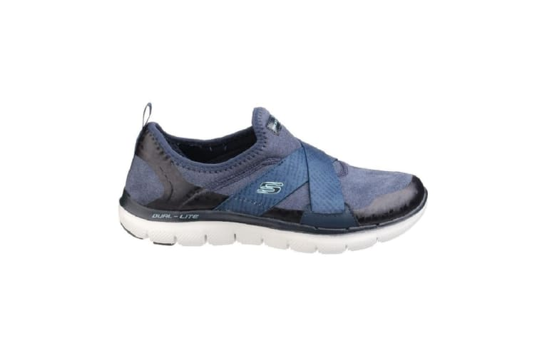 Skechers Womens/Ladies SK12619 Flex Appeal 2.0 Bright Eyed Sports Shoes/Trainers (Navy) (6 UK)