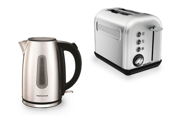 Morphy Richards Equip Toaster & Kettle Pack - Stainless Steel (102777-222010)