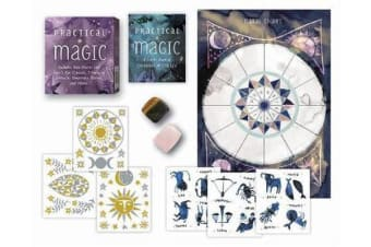 Practical Magic - Includes Rose Quartz and Tiger's Eye Crystals, 3 Sheets of Metallic Tattoos, and More!