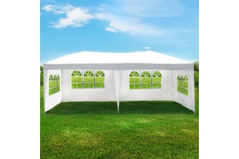 3x6m UV-Resistant Party Wedding Outdoor Tent Marquee with 4 Removable Walls