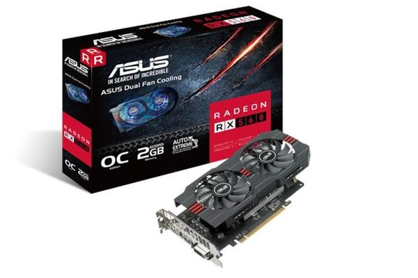 Asus AMD Radeon RX560-O2G DDR5 PCIe Video Card 5120x2880 1xDVI 1xHDMI 1xDP