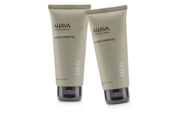 Ahava Time To Energize Mineral Shower Gel (Travel Size) Duo Pack 2x100ml/3.4oz