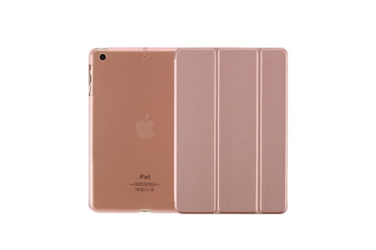 Premium Leather Business Slim Folding Stand Folio Cover For Ipad Air/5 Rose Gold