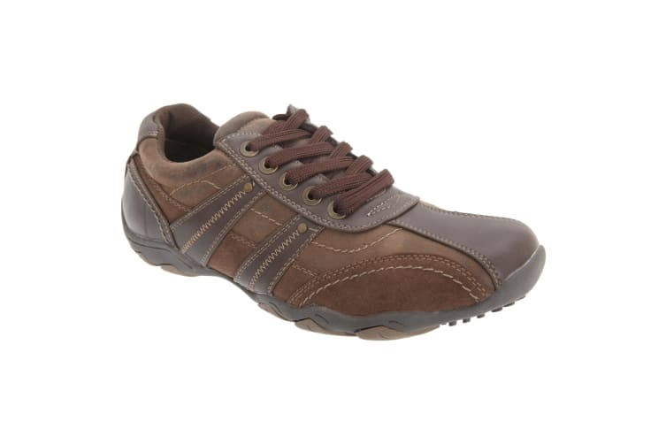 Route 21 Mens 5 Eye Leisure Fashion Shoes (Brown) (10 UK)
