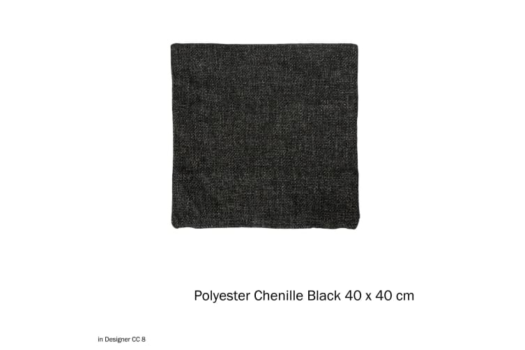 Polyester Chenille Cushion Cover Black