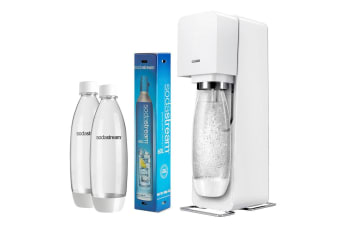 SodaStream Value Pack Source Element Soft Fizzy Bubble Soda Drinks Maker White