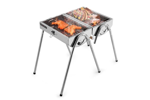 Eurogrille Portable Folding Charcoal Bbq Grill Outdoor Camp Stainless Steel