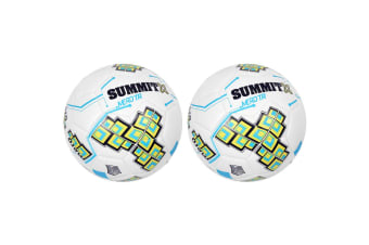 2PK Summit Size 5 White Club Trainer Soccer Ball