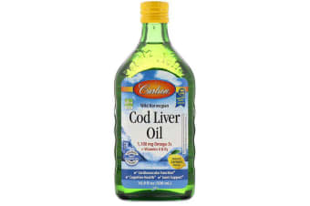 Carlson Labs Wild Norwegian Cod Liver Oil, Natural Lemon Flavour - 500ml