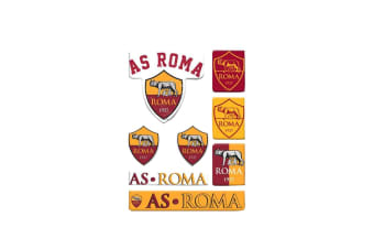 AS Roma Bubble Sticker Set (Yellow/Red) (One Size)