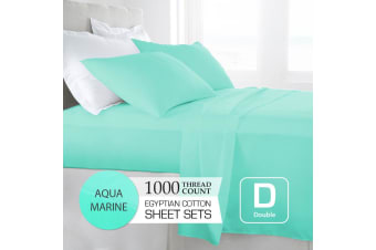 Double Size Aquamarine 1000TC Egyptian Cotton Sheet Set