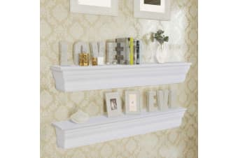 "vidaXL Wall Shelves ""Aaliyah"" 2 pcs White"