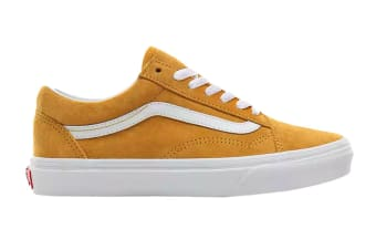 Vans Unisex Old Skool Pig Suede Shoe (Mango Mojito/True White, Size 4 US)